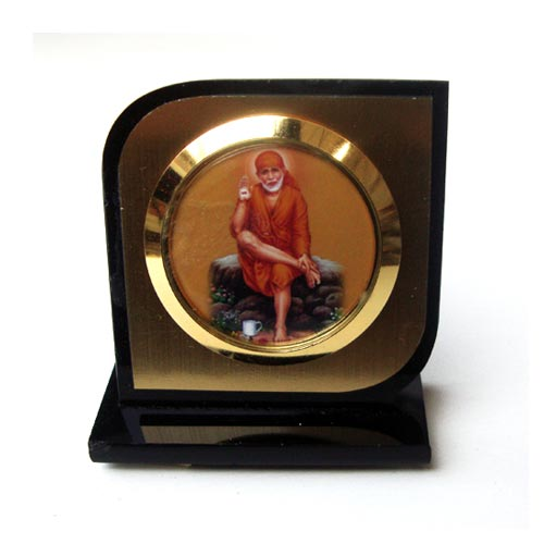 SHRI SAI BABA PLASTIC SHOWPIECE FOR CAR