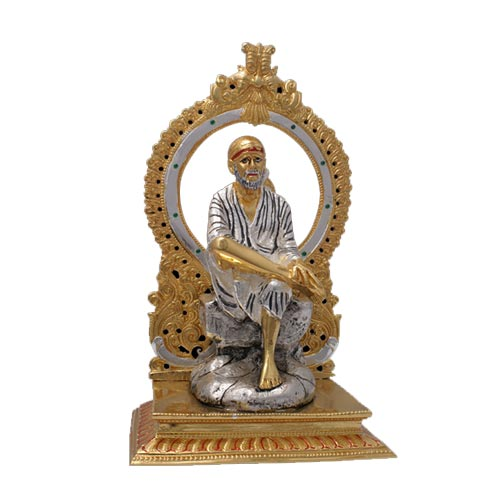 Buy SHIRDI SAI BABA METAL STATUE FOR WORSHIP