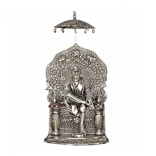 SAI BABA ALUMINIUM STATUE FOR BLESSING