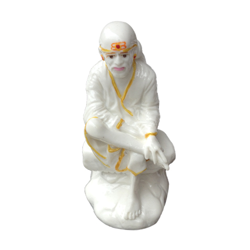 SHIRDI SAI BABA MARBLE STATUE IN SITTING POSE