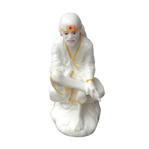 Buy SHIRDI SAI BABA MARBLE STATUE IN SITTING POSE